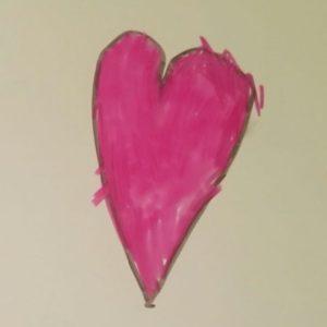 Het lieve hart van een lief meisje